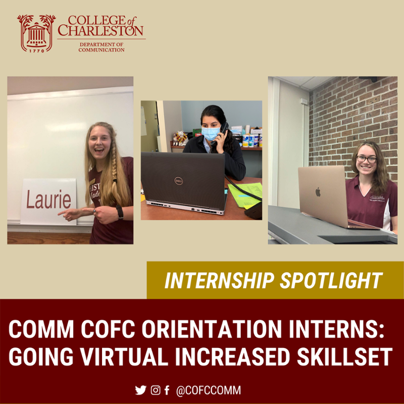 Internship Spotlight with the COMM Orientation Interns